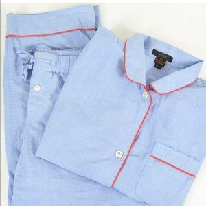 J crew women's XS vintage tipped pajama set